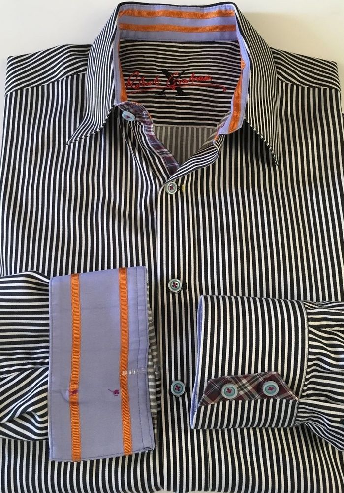 Robert Graham X Collection Men's Long Sleeve Button Down Shirt Medium Striped   #RobertGraham #ButtonFront