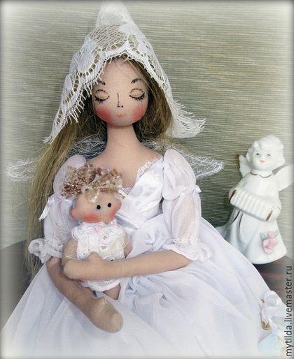 Коллекционные куклы ручной работы. Фея - Крестная. Светлана Бедненко. Интернет-магазин Ярмарка Мастеров. Крестины, ангелочек, тряпиенс