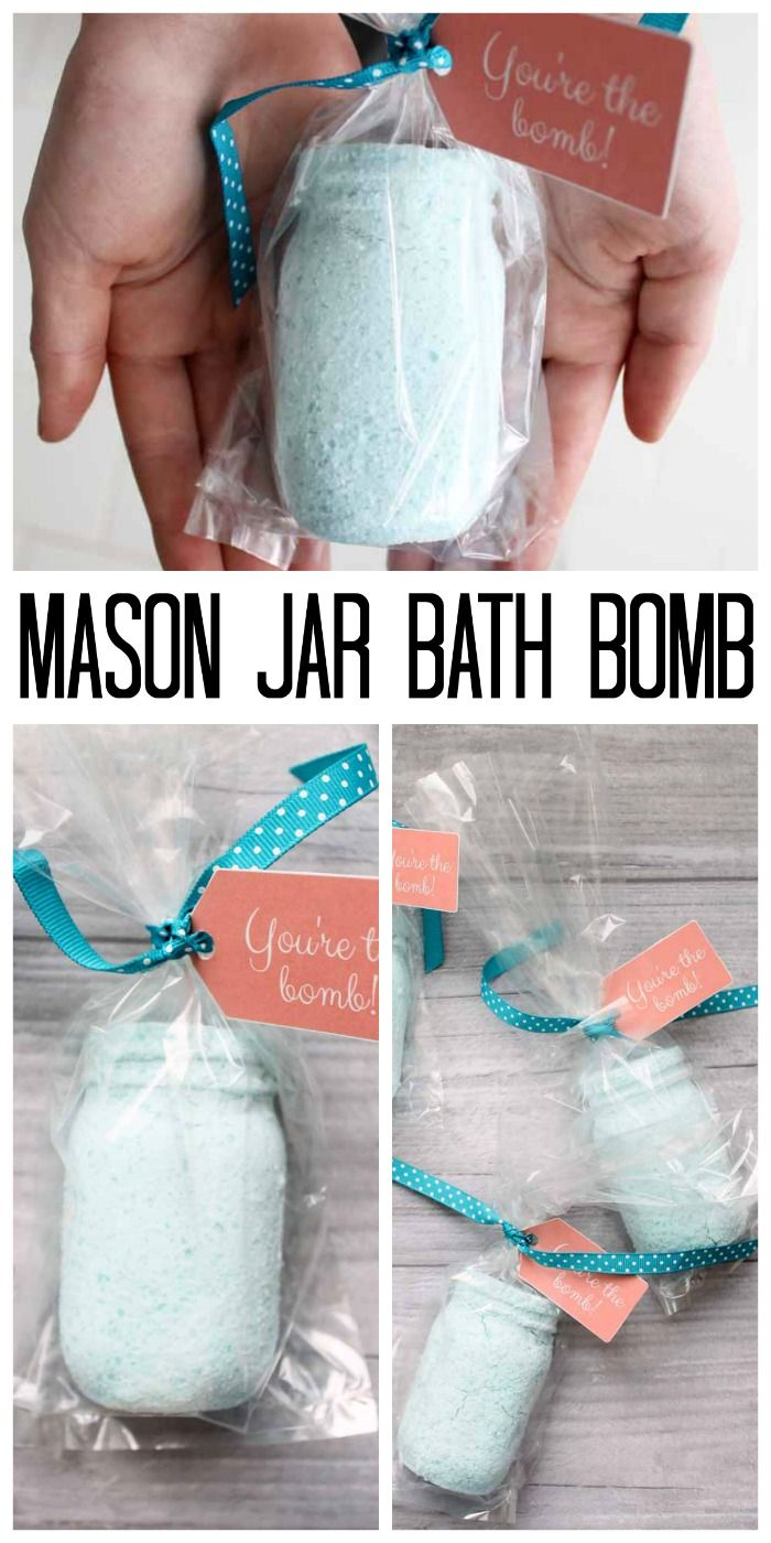 Make this mason jar bath bomb as a cute Mother's Day gift idea! Did you know you can make bath bombs in any shape? See how here!