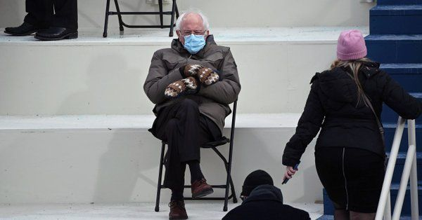 The New Yorker On Twitter Senator Bernie Sanders Arrived At The Most Pomp Heavy And Paparazzied Political Event Of The Year In A Gruff No Nonsense Taupe Park In 2021