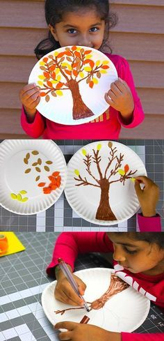 We love this fun idea for kids! What an easy, cool way to celebrate fall. Perfect for an arts and crafts class at school, or for a DIY project at home.