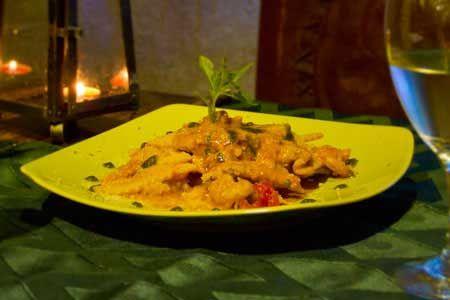 Raviolis con mousse de langosta