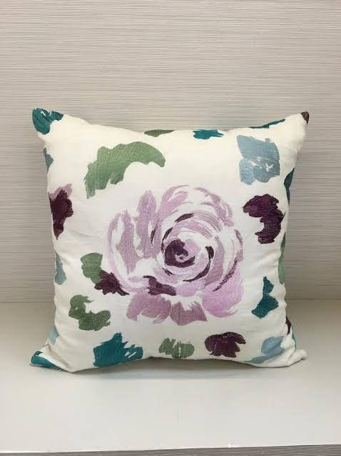Pillow Cover with Embroidery Linen Pillow 20x20