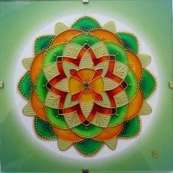 "Mandala Hand Glass drawing Mandala ""V Rovnováze"""