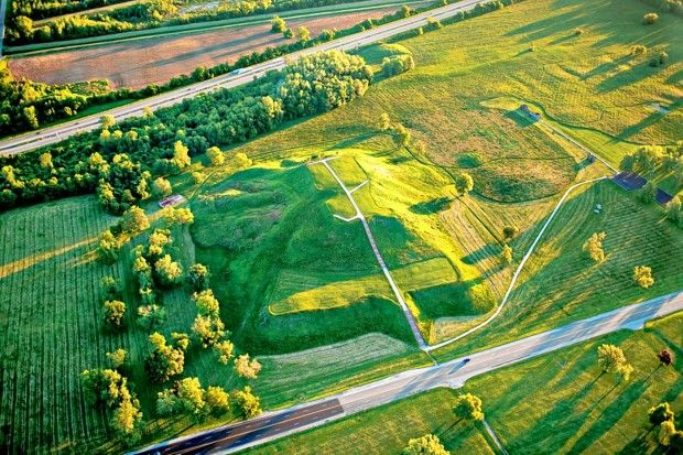 Cahokia mounds .. a world heritage site, right in Illinois. The largest archeological preserve in the USA