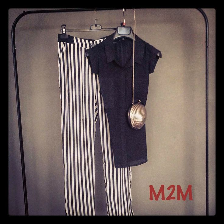 M2M showroom: Stripes Palazzo Trousers in M2M