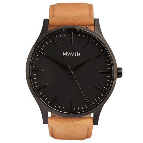 The 40 - Black/Tan Leather | MVMT Watches