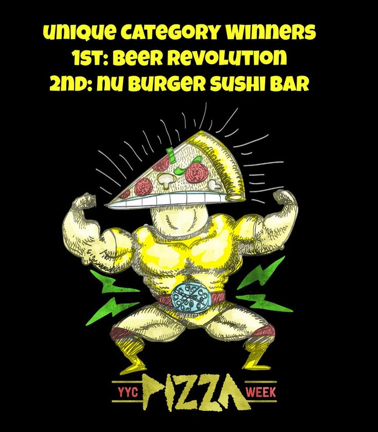 Top 2 winners of the Unique Category in #yycpizzaweek are: 1st goes to @revolutionyyc, 2nd goes to @nubsbhq!