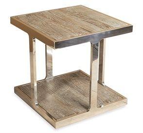 Interlude Soto Square Side Table #threetreesinteriors