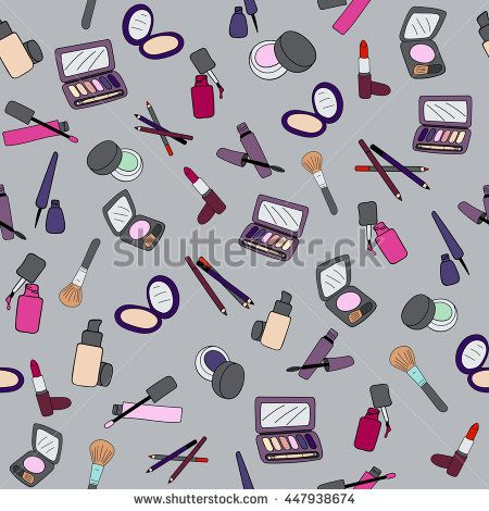 Makeup cosmetic seamless pattern