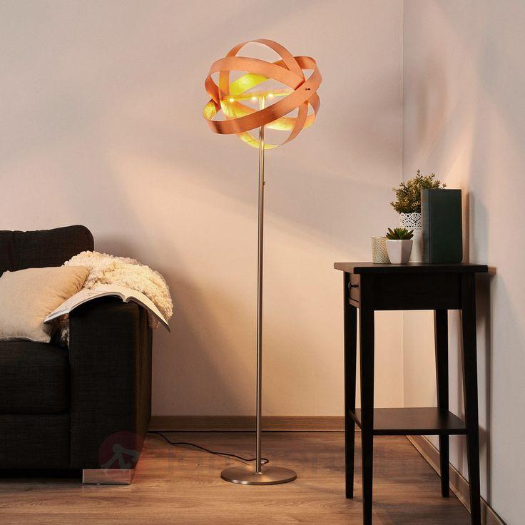 LED-vloerlamp Cara koper 6722132