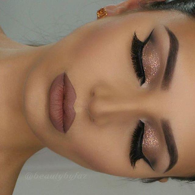 Tendance Maquillage Yeux 2017 / 2018   Huda Kattan on Instagram: Stunning makeup @beautybyfaz  @shophudabeauty mink lashes in Sophia