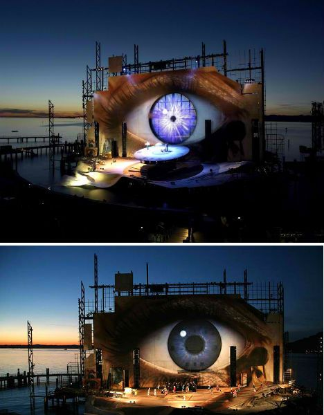 Tosca Opera Set at Bregenz Festival
