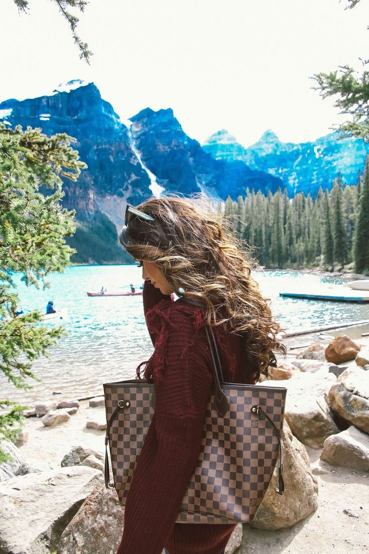Thursday, September 1, 2016 Over-The-Knee Boots at Lake Moraine -  SWEATER: Tobi | DENIM: AG Jeans | BOOTS: Marc Fisher | BAG: Louis Vuitton Neverfull (MM) | SUNGLASSES: Givenchy | LIPS: KatVonD 'Lolita'
