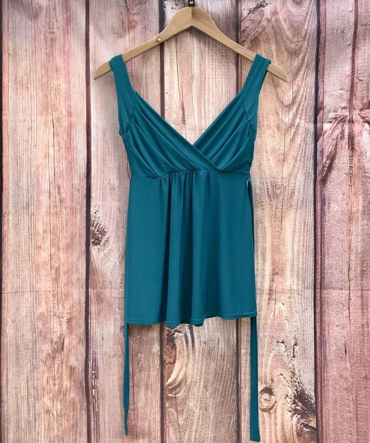 Womans Top by Bay trading size 10 tie up back summer holiday vest cami strappy