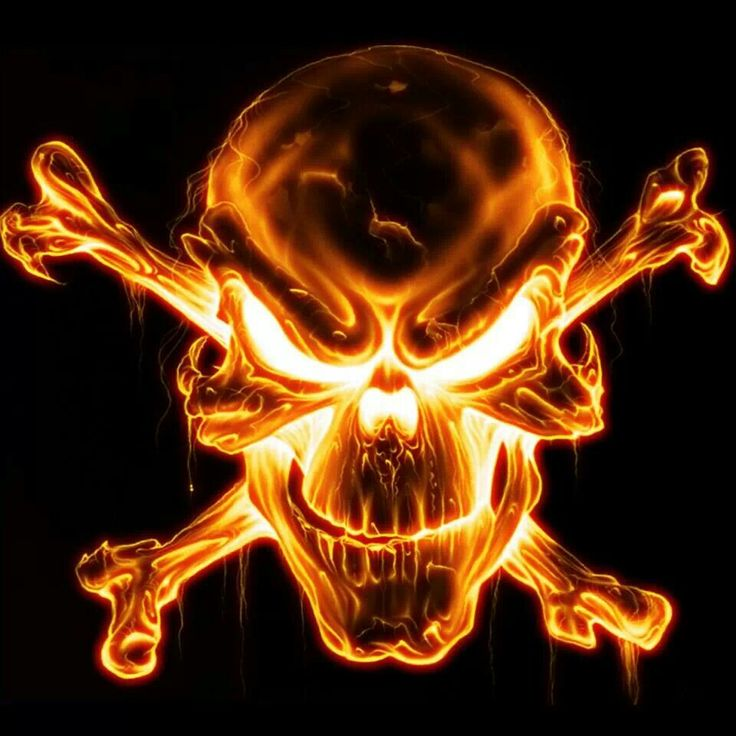 Fire skull Image tete de mort, Tête de mort, Tete de