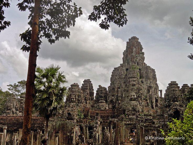 Ancient Temple at Angkor Wat in Siem Reap, Cambodia