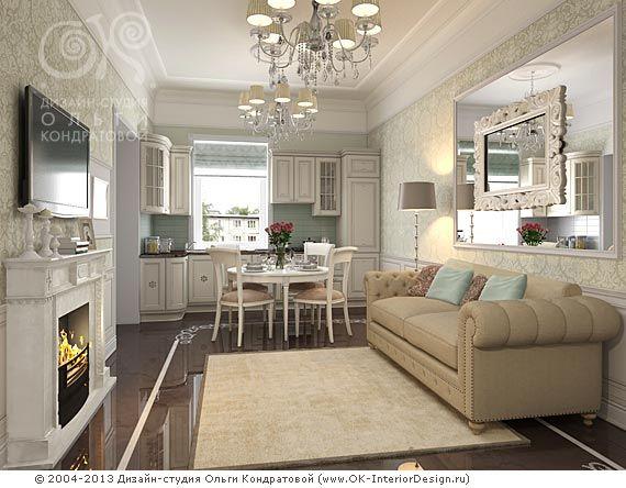 Подоконник играет роль кухонной столешницы - удобно и место экономит