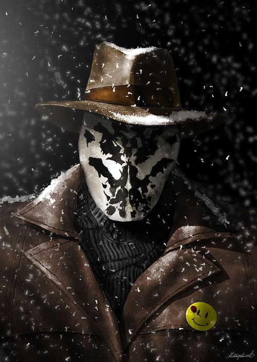 Watchmen: Rosarch  The snow stays on his icy exterior...