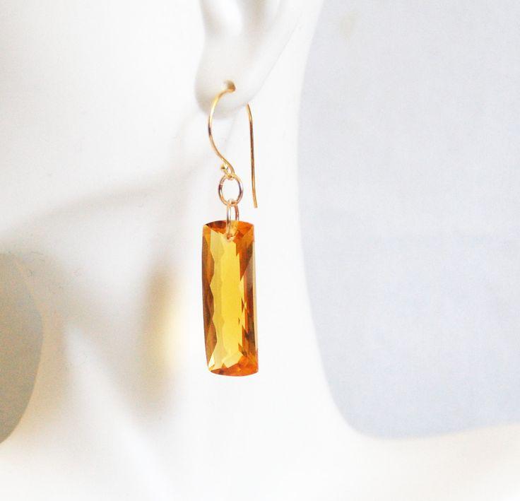 Top Grade 36.5 ct. Orange Citrine Dangle Drop Earrings- Fine Jewelry-Wedding Jewelry- Bridal Jewelry -Bridal Accessories- -Citrine Earrings by ferozasjewelry on Etsy