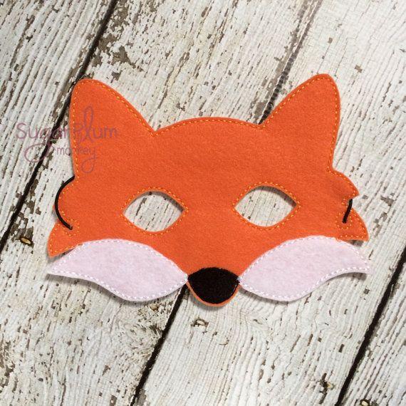 Fuchs Maske Herr Fuchs Kinder Filz Fuchs Maske von SugarPlumMonkey