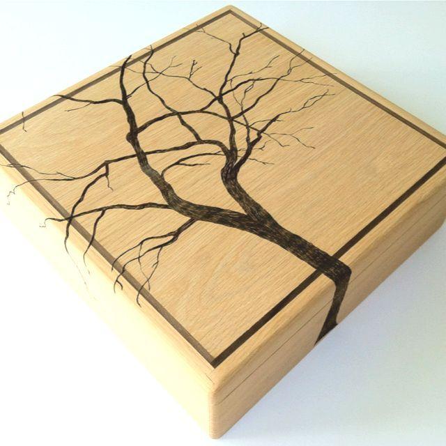 Decorative Boxes: TreeToBox (beautiful wood burning)
