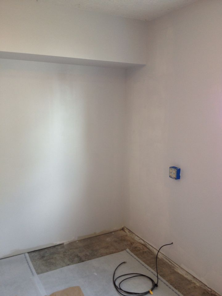 Painted The Walls Glacial Stream Garage Remodel Remodel
