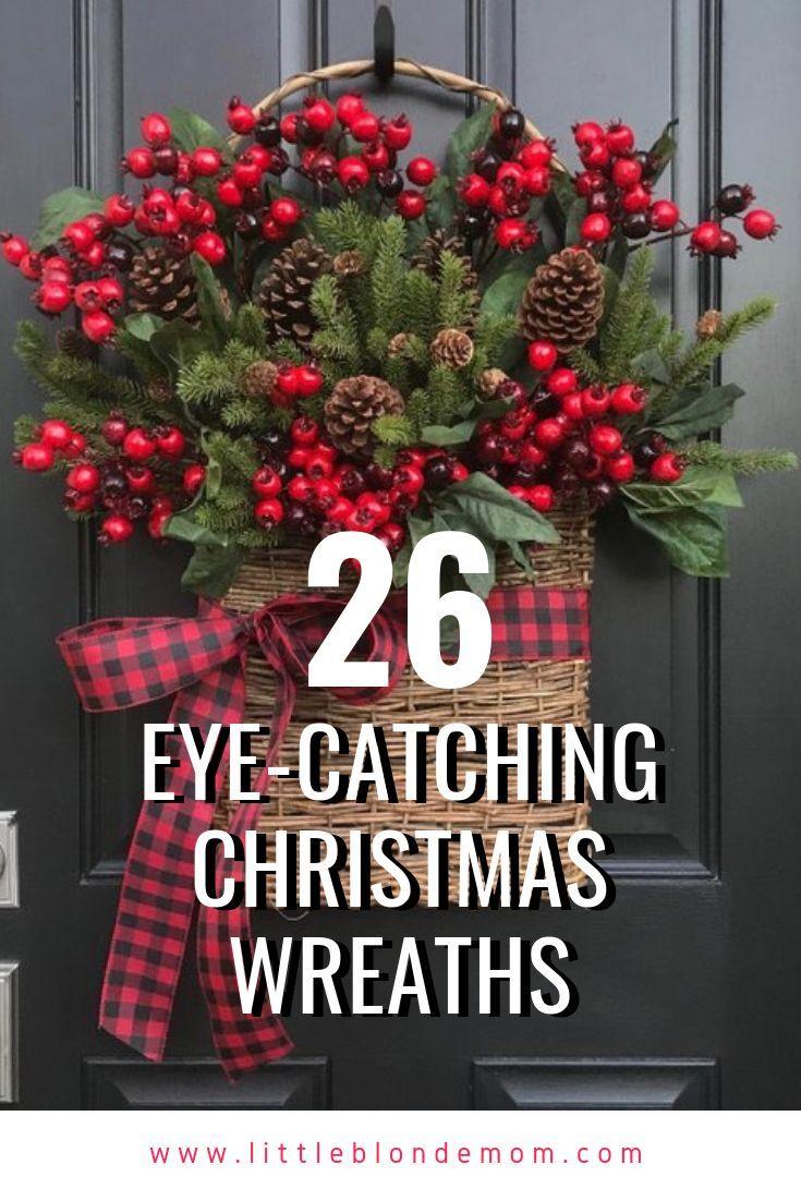 26 amazing Christmas wreath ideas! #farmhousechristmas #farmhousedecor #christma…