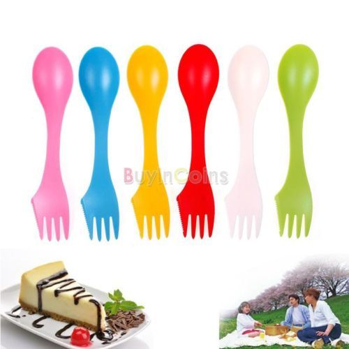 Popular-Outdoor-Spork-lunchbox-Utensil-Camping-Hiking-Spoon-Fork-Combo-Gadget