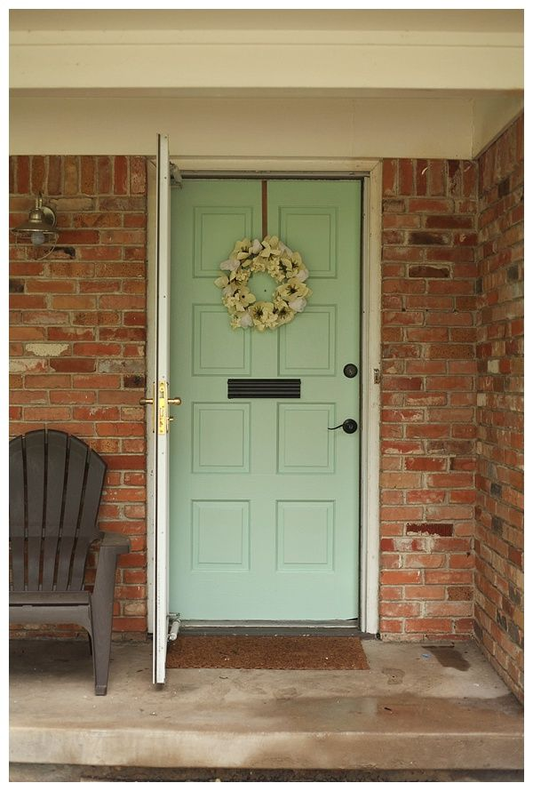 Our New Mint Front Door Your Best Diy Projects House