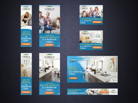 Luxury Apartments Banner Design by artblade477