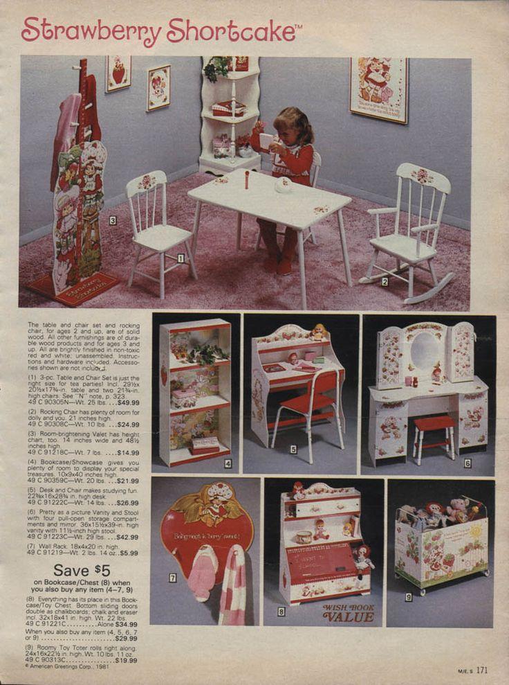 Vintage strawberry shortcake bedroom decor