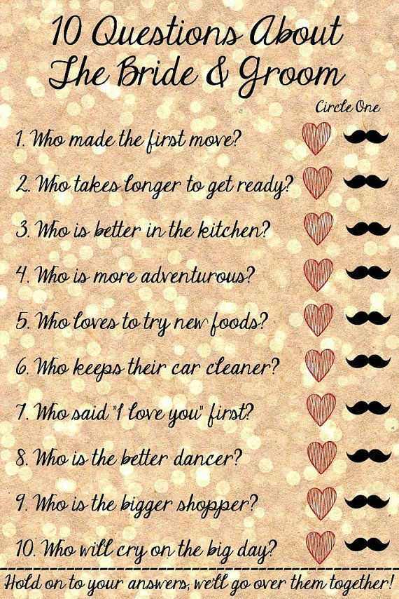 10 Questions About the Bride and Groom  Bridal by Sweetness8