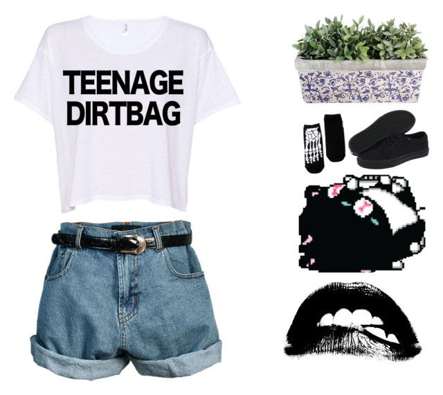 """come with me friday don't say maybe; I'm just a teenage dirtbag baby like YOU//"" by hipstaplz367 ❤ liked on Polyvore featuring Retrò and Vans"