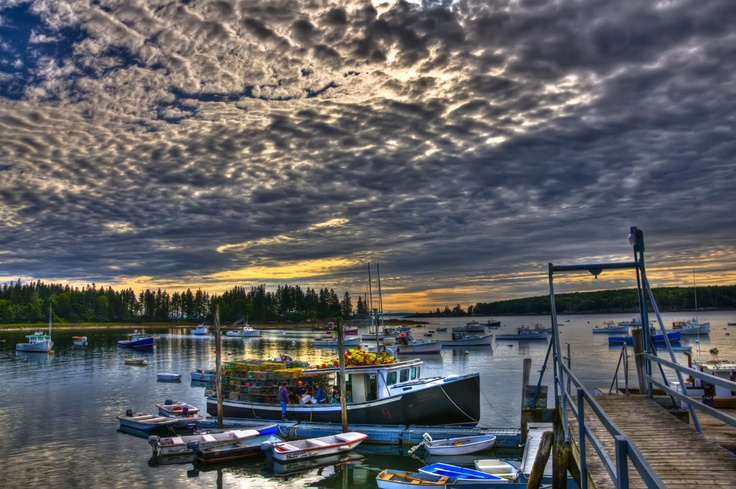 Owls Head Maine Lobster boat seascape Art Photography