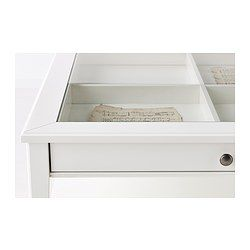 IKEA - LIATORP, Coffee table, white/glass, , Practical storage space underneath the table top.Separate shelf for magazines, etc. helps you keep your things organised and the table top clear.