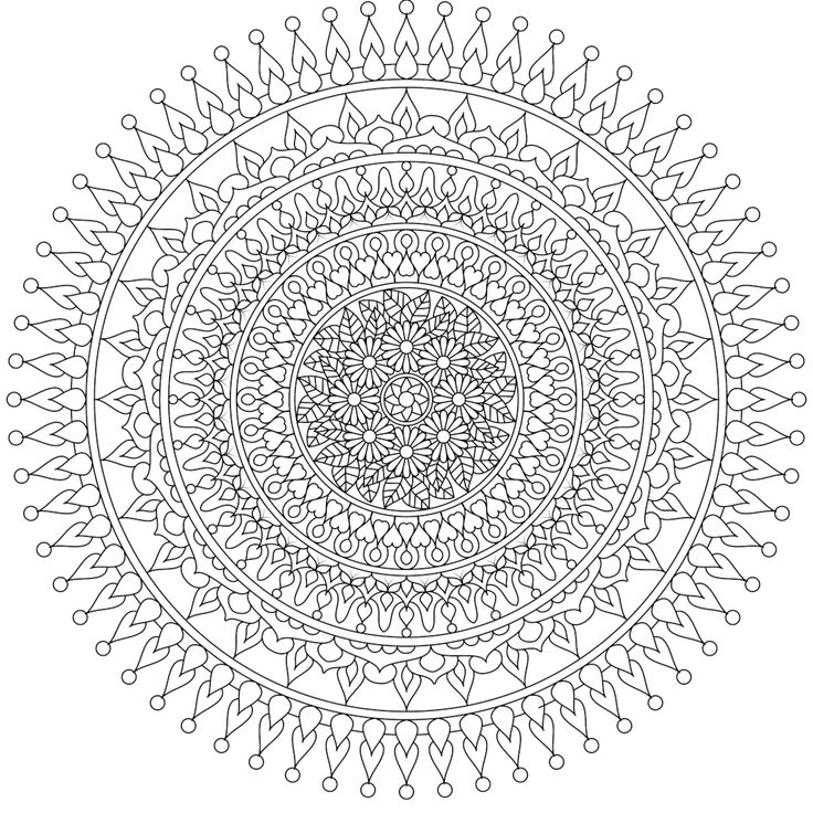 moon heart a beautiful free mandala coloring page you can print at home