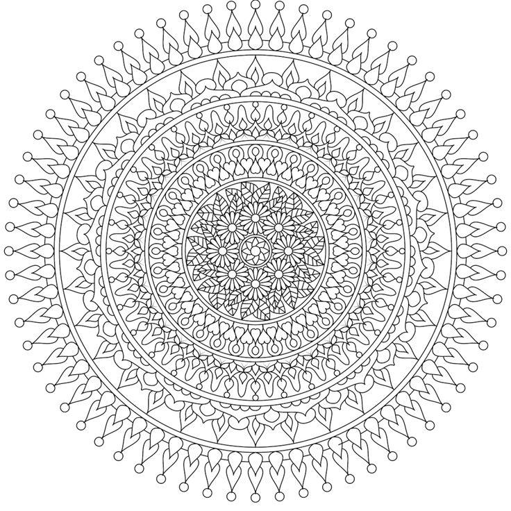 25 Basta Ideerna Om Mandala Coloring Pages Pa Pinterest