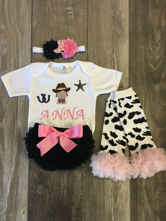Baby girl cowgirl birthday outfit western first by Mylittlerascal