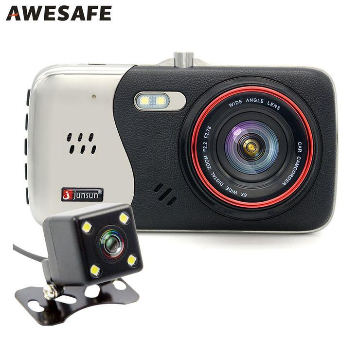 "4.0 ""ips fhd 1080 p ganda lensa mobil dvr kamera perekam video dash cam kamera auto night vision motion detection mobil dvr"