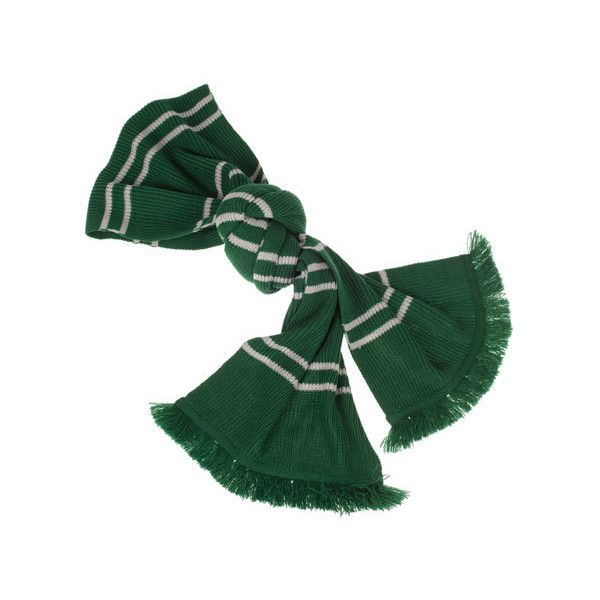 Authentic Slytherin Scarf ($39) ❤ liked on Polyvore featuring accessories, scarves, harry potter, tassel scarves, striped scarves, silver shawl, striped shawl and silver scarves