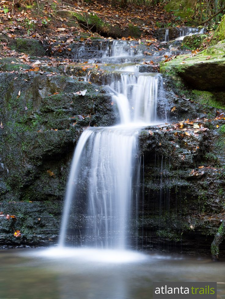 Hike the Pine Mountain Trail at FD Roosevelt State Park to a series of beautiful, spilling waterfalls in a shady pine forest just south of Atlanta
