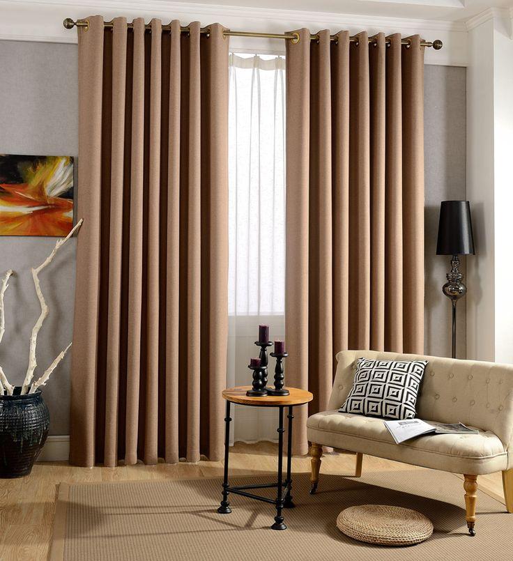 Япония сплошной цвет белье чувство плотные шторы для гостиной шторы окна…