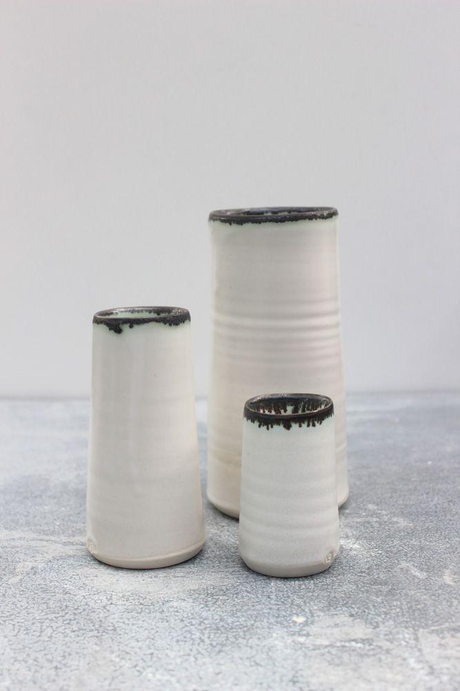 MaC Rim porcelain vases by Elke Lucas Ceramics