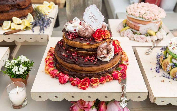 Rustic Wedding Inspirations. Naked Chocolate Cake