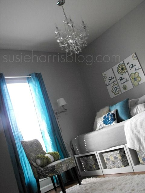 Under the bed storage.    Susie Harris: A Tween MakeoverChild Room, Guest Room, Grey Walls, Tween Makeovers, Kids Room, Children Room, Tween Room Ideas, Tween Bedrooms Makeovers, Susie Harry