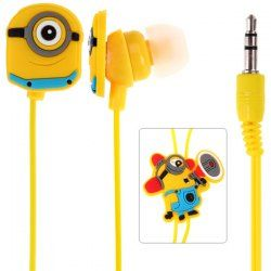 $2.44 Cute Despicable Me The Minion Pattern General 3.5mm In-ear Earphone for Various Mobile Phones