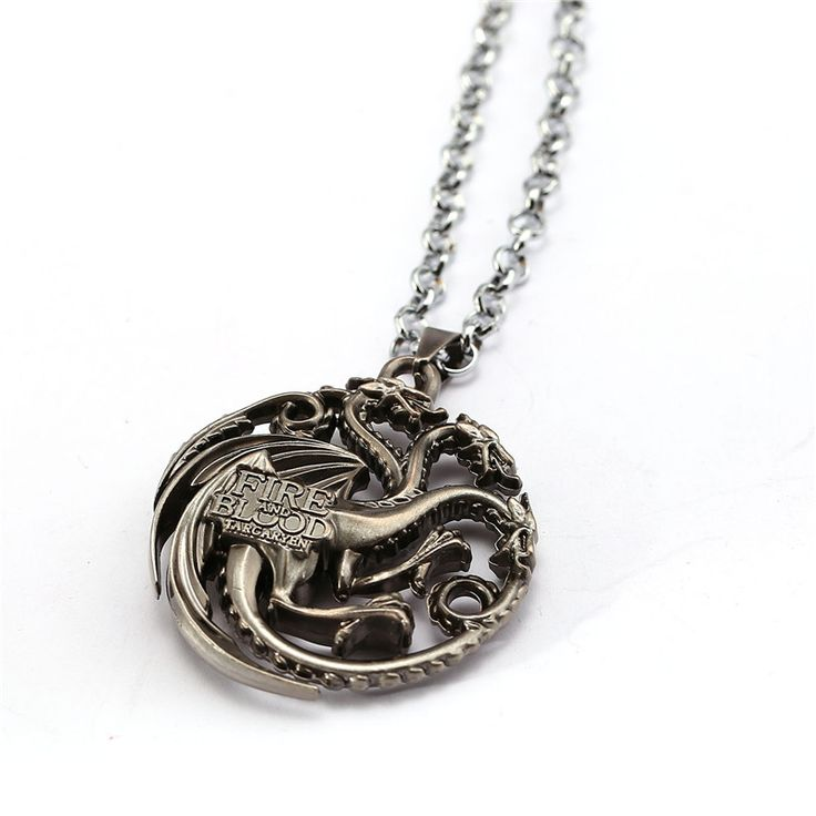 Gothic Movie Game of Thrones Pocket Watch Necklace Keychain Steampunk Men Body Chain House of Stark Black Wolf  Game Jewelry
