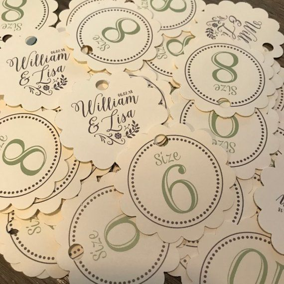 948b86ac21a5 Flip Flop Size Tags Flip Flops for Wedding Guests Sign