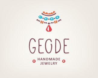 Handmade jewelry logo - Geode Logo Design   More logos http://blog.logoswish.com/category/logo-inspiration-gallery/ #logo #design #inspiration